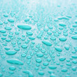 Blue water Drops background — Stock Photo