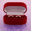 Stock Photo: Wedding ring in red box
