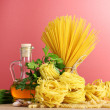 Pasta and spices — Stock Photo