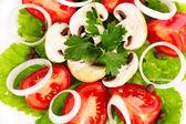 Tasty vegetable salad — Stock Photo
