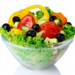 Vegetable salad on plate - Stock Photo