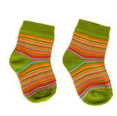 Bright baby socks — Stock Photo