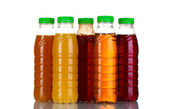 Bottles with juice — Stock Photo