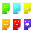 Colorful stickers smile. - Stock Vector