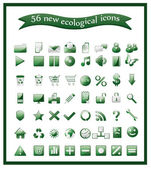 Popular ecological icons — Stock Vector
