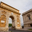 Triumphal arch, Montpellier, France - Stock Photo