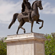 Statue Louis XIV, Montpellier — Stock Photo