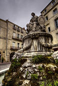 Ancient statue in Montpellier — Stock Photo