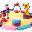 Stock Photo: Plasticine circus performance