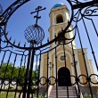 Gates to cathedral of Holy Nikolay — Stock Photo