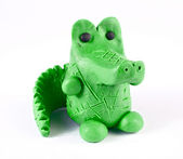 Plasticine crocodile — Stock Photo