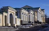 Edifício com colunas romanas — Foto Stock