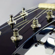 Headstock of classical guitar — Stock Photo