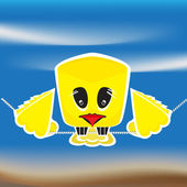 Sad bird — Stock Vector