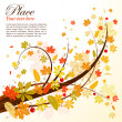 Royalty-Free Stock Векторное изображение: Autumn Background