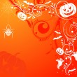 Royalty-Free Stock Vector Image: Floral Halloween background