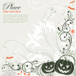 Stock Vector: Floral Halloween background