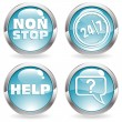 Royalty-Free Stock Vector Image: Collect Button with twenty four hours by seven days
