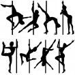 Collect dancing silhouettes — Stock Vector