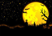 Cadılar bayramı arka plan — Stok Vektör