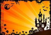 Marco de halloween — Vector de stock