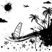 夏天背景 — 图库矢量图片