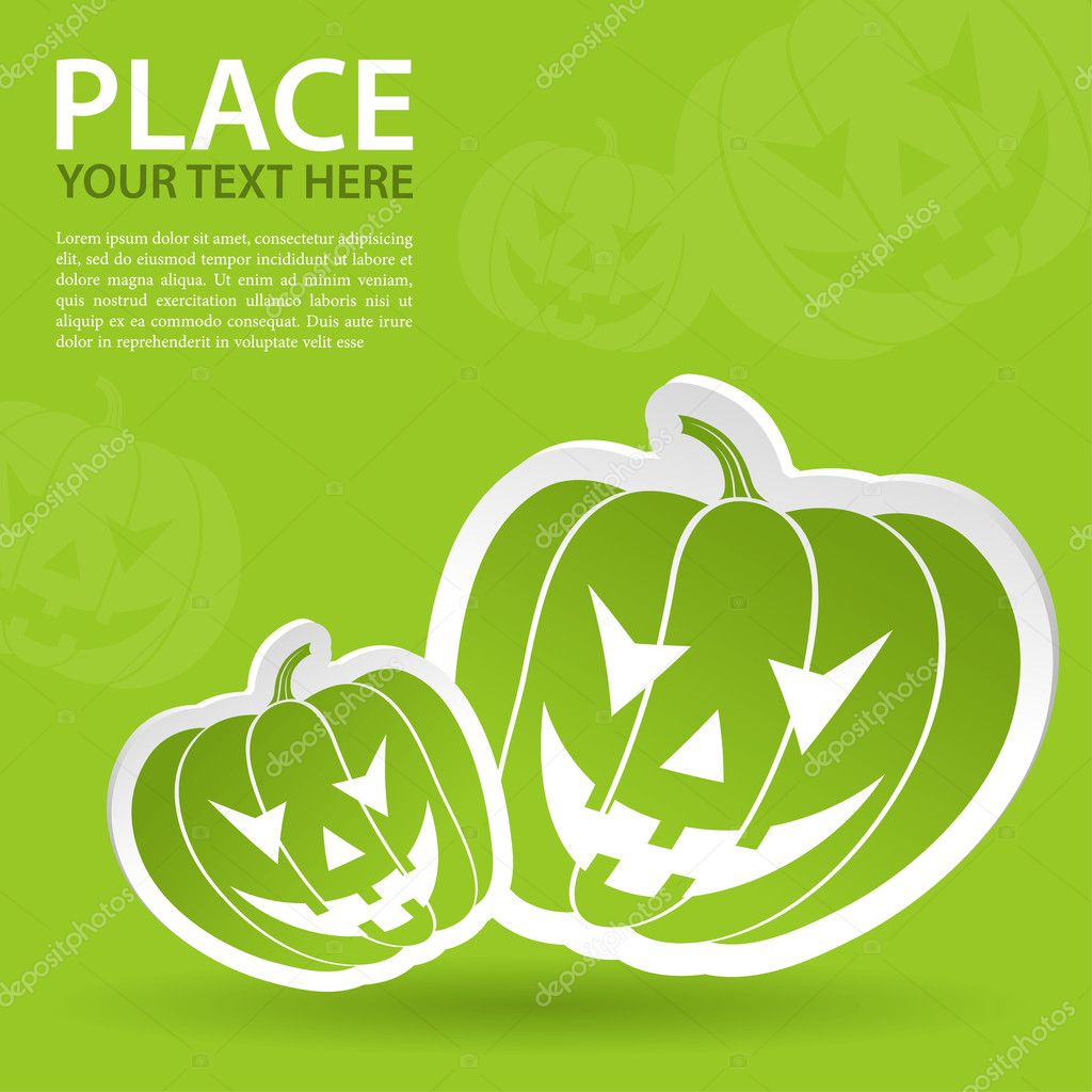 Halloween sticker with pumpkin, element for design, vector illustration — Stock Vector #6697748