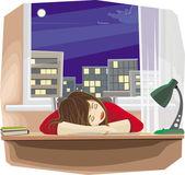 Sleeping girl — Stock Vector