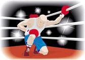 Huge boxer — Stock Vector