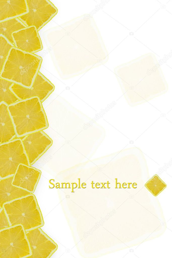 Background of the square of lemons — Stock Photo #6684018