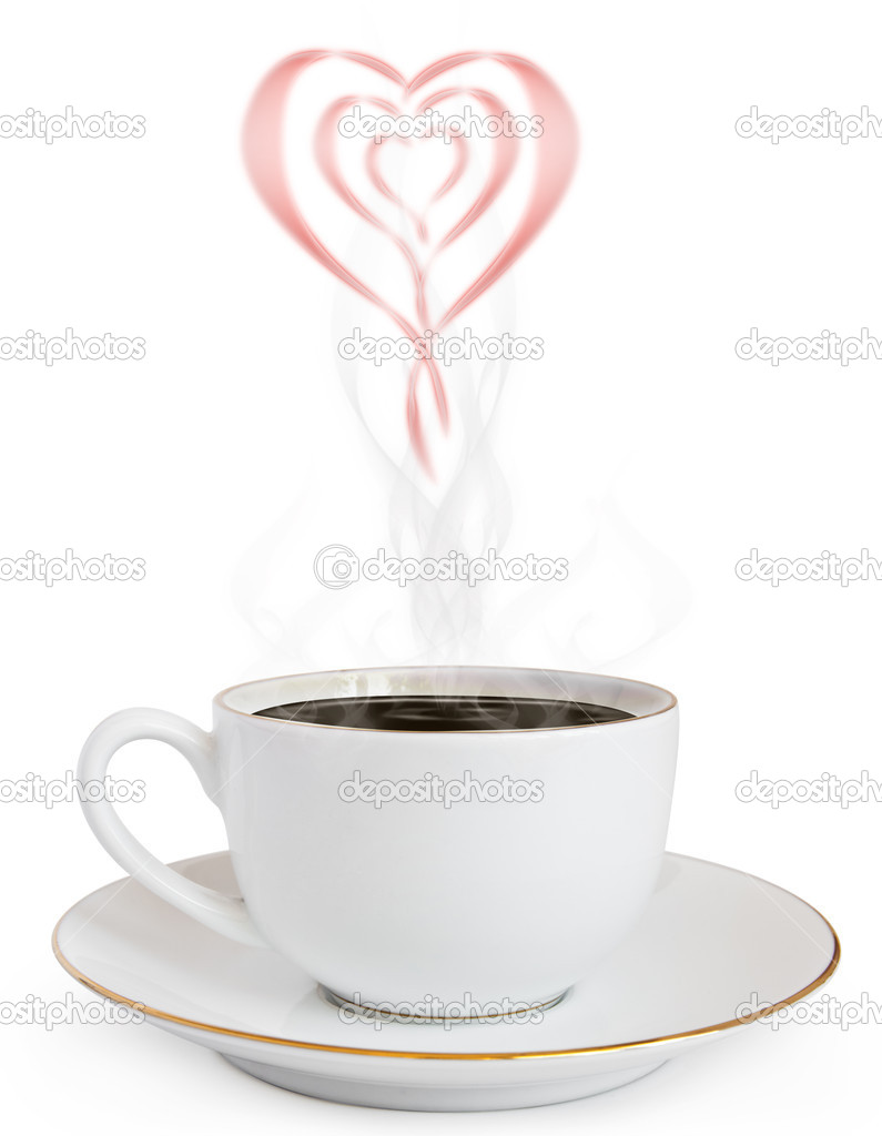 A cup of hot coffee and a smoke — Stock Photo #6684815