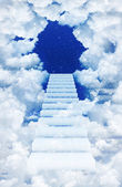 Sky with steps — Stock Photo