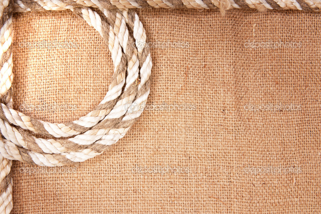 Frame of the rope and burlap — Stock Photo #6692768