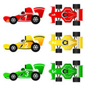 Formula car set — Stock Vector