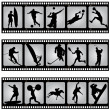 Royalty-Free Stock Vector Image: Sport filmstrip scene