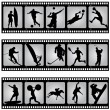 Sport filmstrip scene — Stock Vector