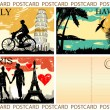 Postcard great set — Stock Vector