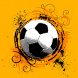 Royalty-Free Stock Vector Image: Grunge soccer