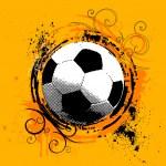 Grunge soccer — Stock Vector