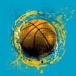 Royalty-Free Stock Vector Image: Grunge basketball