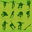 Skateboarding background - Stockvectorbeeld