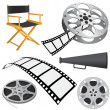 Film objects - Stock Vector