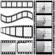 Set of film - Stock Vector