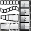 Stock Vector: Set of film
