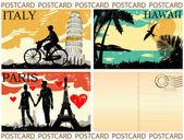 Postcard great set — Stock Vector