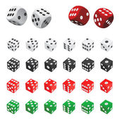 Collection of dice — Stock Vector