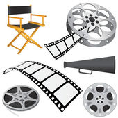 Film objects — Stock Vector