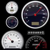 Set of speedometer — Stock Vector