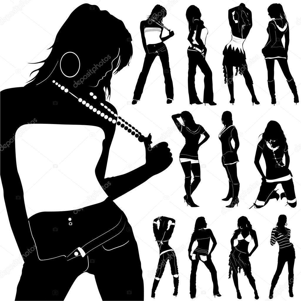 Fashion Woman Silhouette Clip Art