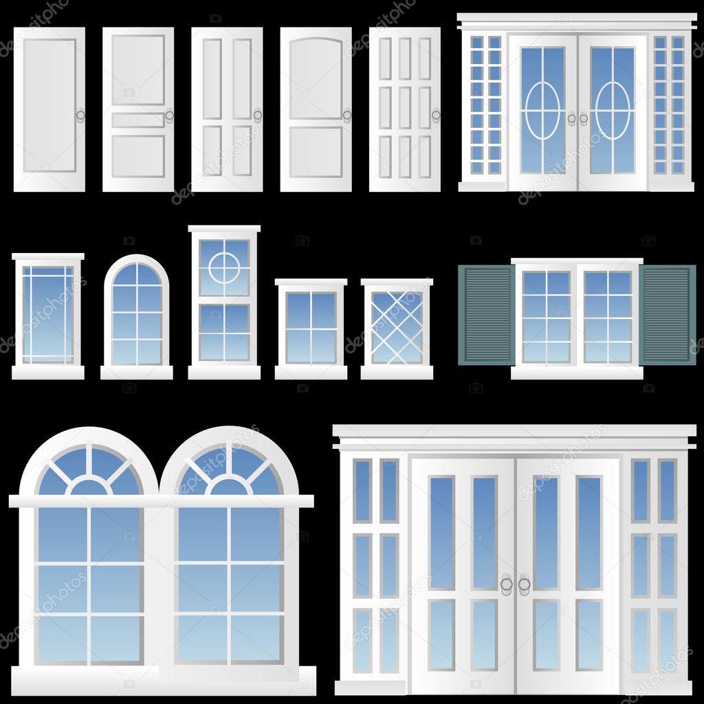 矢量欧式门窗素材; 欧式门窗矢量素材;; 欧式窗户矢量素材